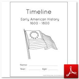 This post describes how to assemble the timeline folders and poster for the Early American History lesson plans