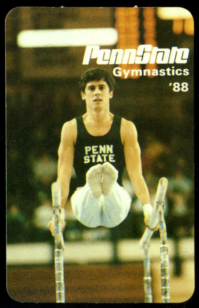 1988 PENN STATE NITTANY LIONS MELLON MENS GYMNASTICS POCKET SCHEDULE FREE SHIP