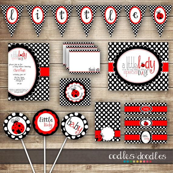 Ladybug Baby Shower PARTY PACKAGE / Baby Girl Shower / by OandD