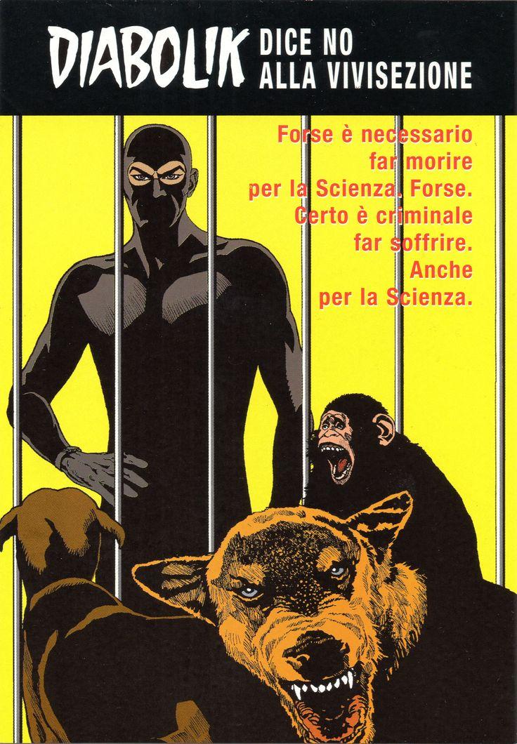 """PROMOCARD n. 4368 2003 - DIABOLIK 090: """"No alla vivisezione"""""""