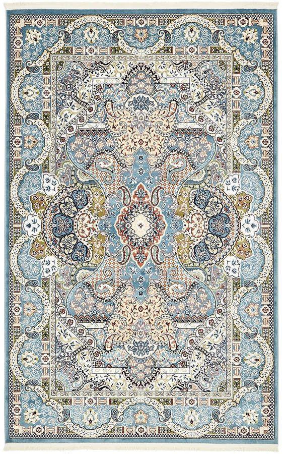 Bridgeport Home Zara Zar2 Blue 5 X 8 Area Rug Rugs On Carpet