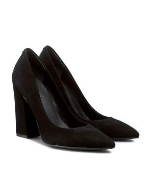 Pantofi Cu Toc Gros Guess Piele Intoarsa