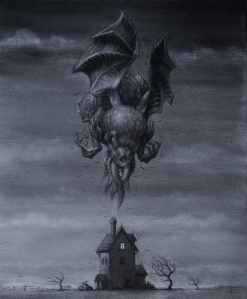 Personally, I think this image really represents a lot of Lovecraft's writings. The sense of aloneness and isolation, desolation, decay and impending doom