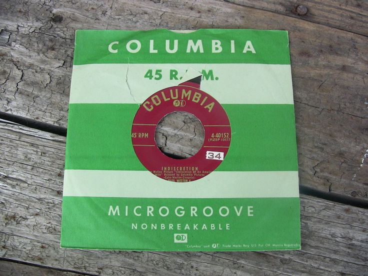 Vintage Single 45 Record Paul Weston Orchestra Indiscretion Columbia Records 4-40152 #1950s