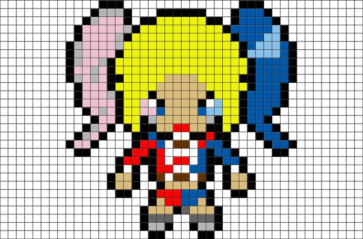 Harley Quinn Pixel Art From BrikBook.com #HarleyQuinn