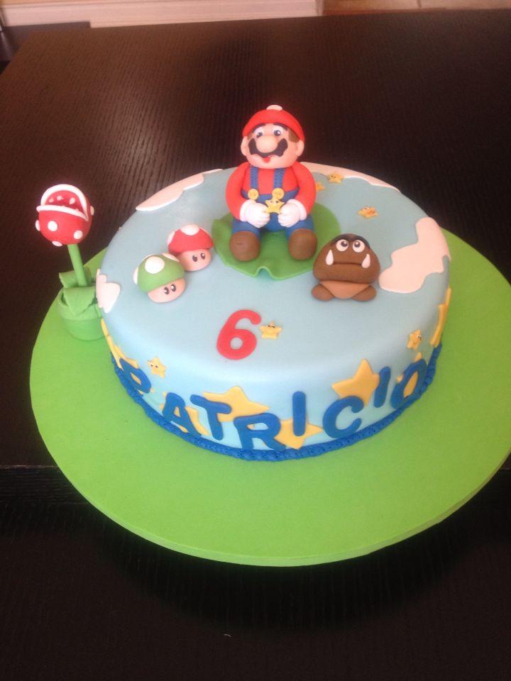 Torta panqueque súper Mario bros