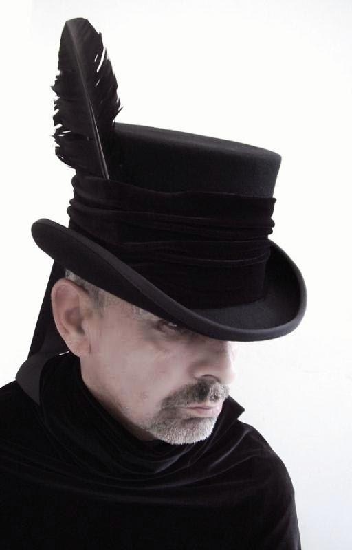 Black Raven man's top hat steampunk Victorian