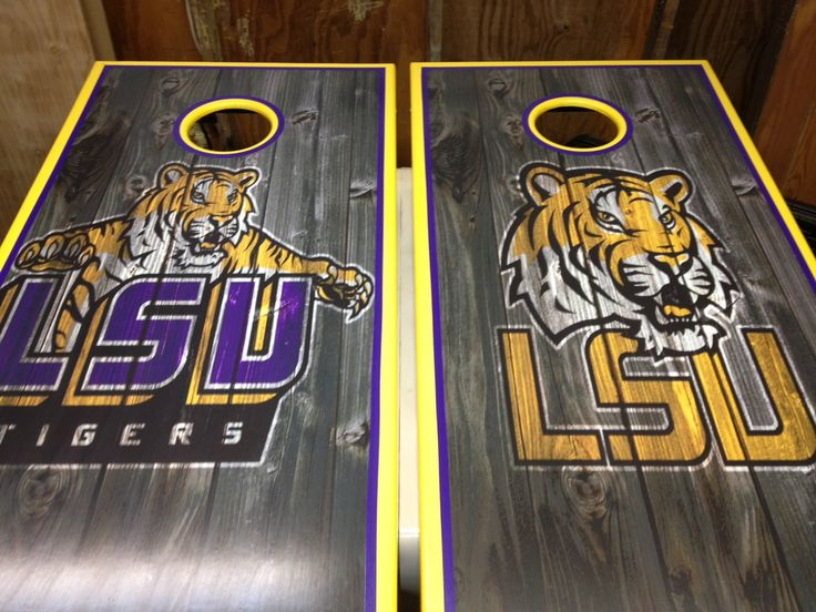 Lsu Corn Hole Boards Cornhole Pinterest Logos