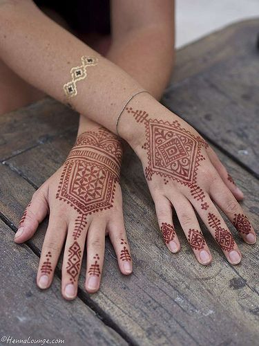 Geometric henna in Mexico by www.hennalounge.com   Flickr - Photo Sharing!