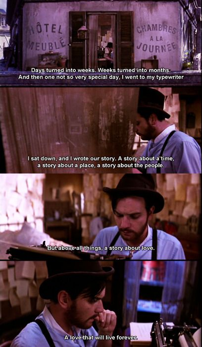 Ewan McGregor as Christian in Moulin Rouge
