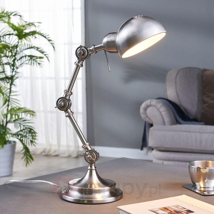 Klasyczna lampa biurkowa Ellisen, nikiel 9620984