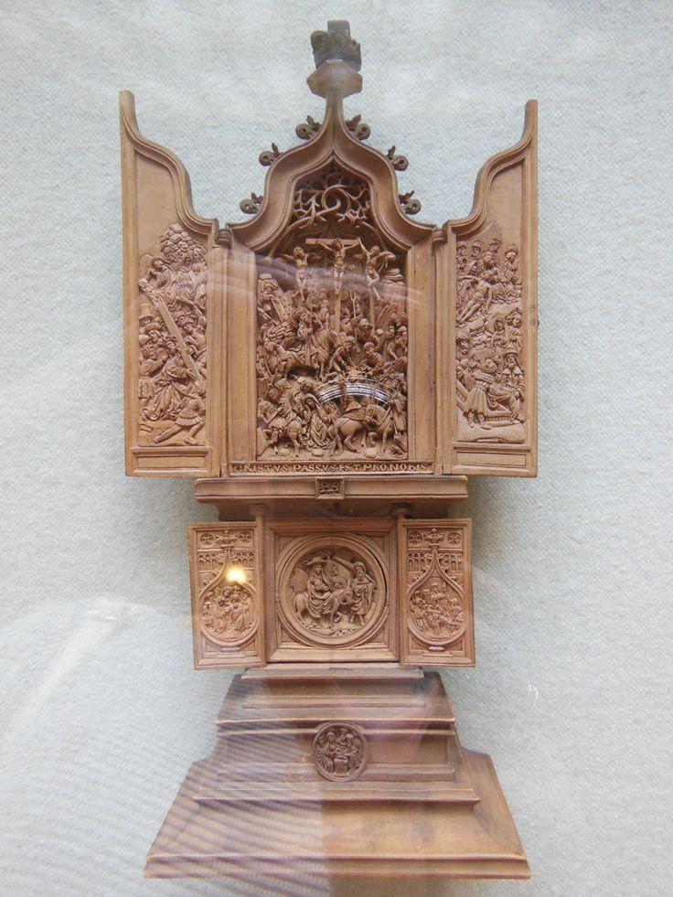 миниатюрная деревянная скульптура. Южные Нидерланды. 16 век.