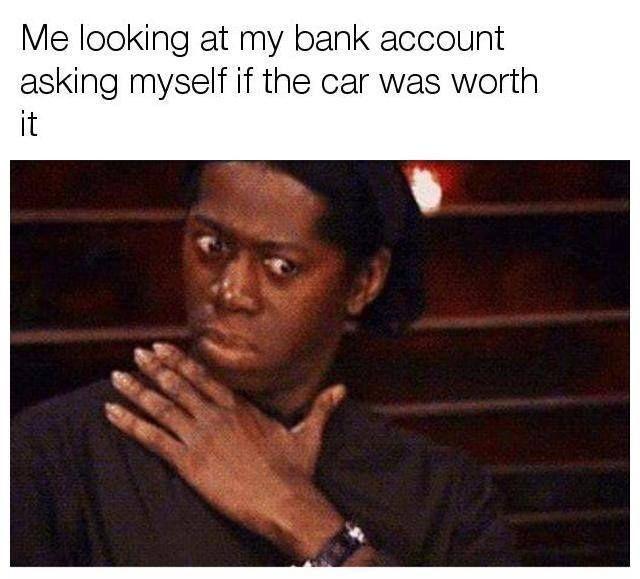 Totally worth it. Car memes #CarDoings #Cars #Automotive #Ferrari #BMW #M3 #M4 #M5 #Mercedes #AMG #Porsche #Audi #Honda #Ford #Volkswagen #Volvo #Kia #Mazda #Chrysler #Subaru #Lexus #Dodge #Hyundai #Chevrolet #Jeep #Nissan #Toyota #Tesla #Car #Supercar