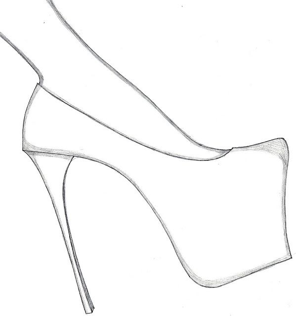How to draw shoes high heels and templates on pinterest