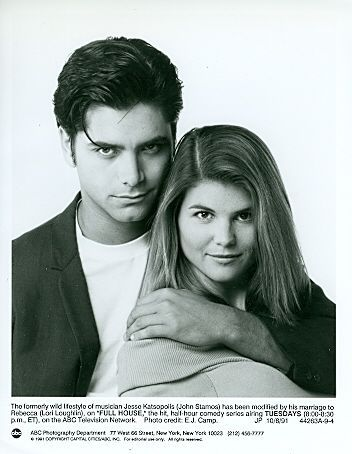 YOUNG LORI LOUGHLIN JOHN STAMOS PORTRAIT FULL HOUSE ORIGINAL 1991 ABC TV PHOTO