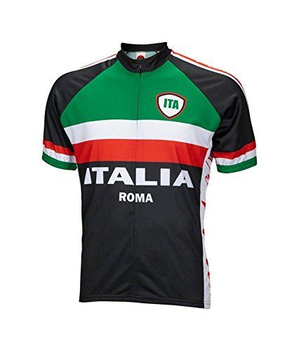 Italy Italia Roma Cycling Jersey by World Jerseys Mens Medium Short Sleeve * Want to know more, click on the image.