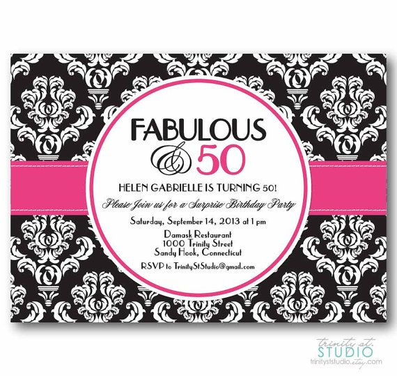 26 best Birthday Party Invitations from my Shop images on – Damask Birthday Invitations