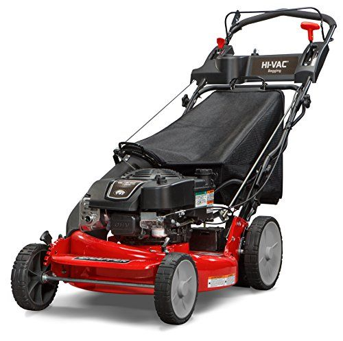 Snapper P2185020E / 7800982 HI VAC 190cc 3-N-1 Rear Wheel Drive Variable Speed Self Propelled Lawn Mower with 21-Inch Deck and ReadyStart System and 7 Position Heigh-of-Cut – Electric Start Option  Briggs & Stratton 850 professional Series engine with ready start starting system - no priming, no choking. Just pull and goRear-wheel drive improves walk-behind mower traction and the smooth-turn differential helps ensure easy maneuverability without damaging your grassHi VAC deck effic..