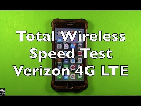 Total Wireless Speed Test Verizon 4G LTE How Fast - YouTube