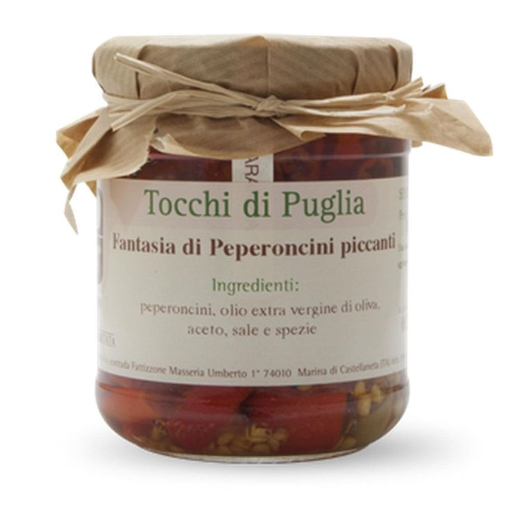 FANTASIA DI PEPERONCINI PICCANTI GR 180 TOCCHI DI PUGLIA  (070872)