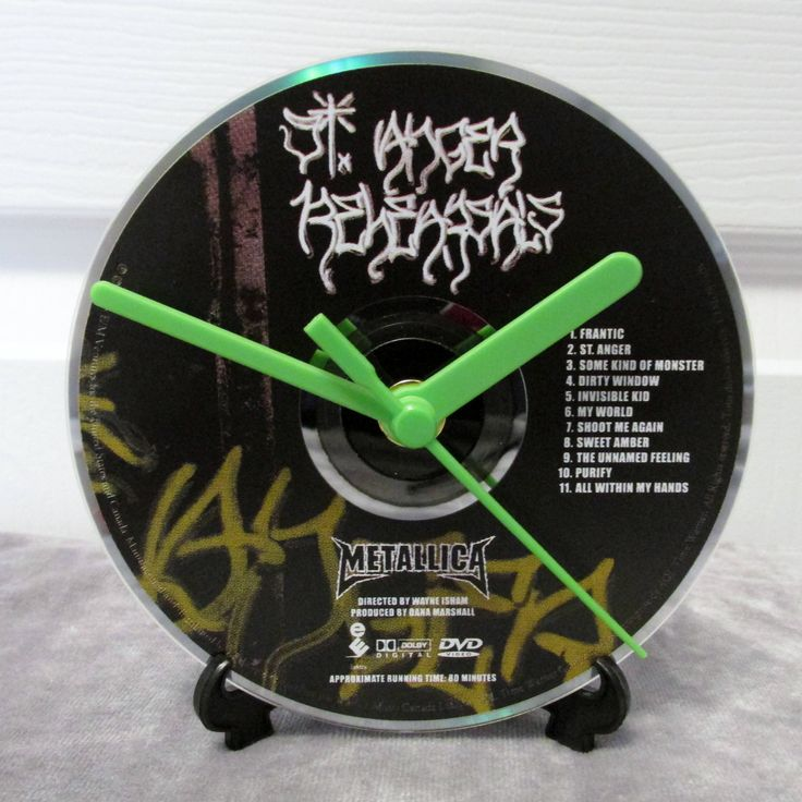 Metallica CD Clock Heavy Metal Decor - St Anger by DarkStormDesign on Etsy