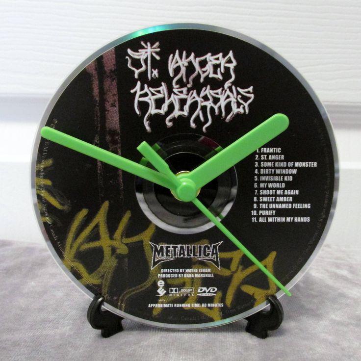 Metallica CD Clock Heavy Metal Decor - St Anger by DarkStormDesign on Etsy
