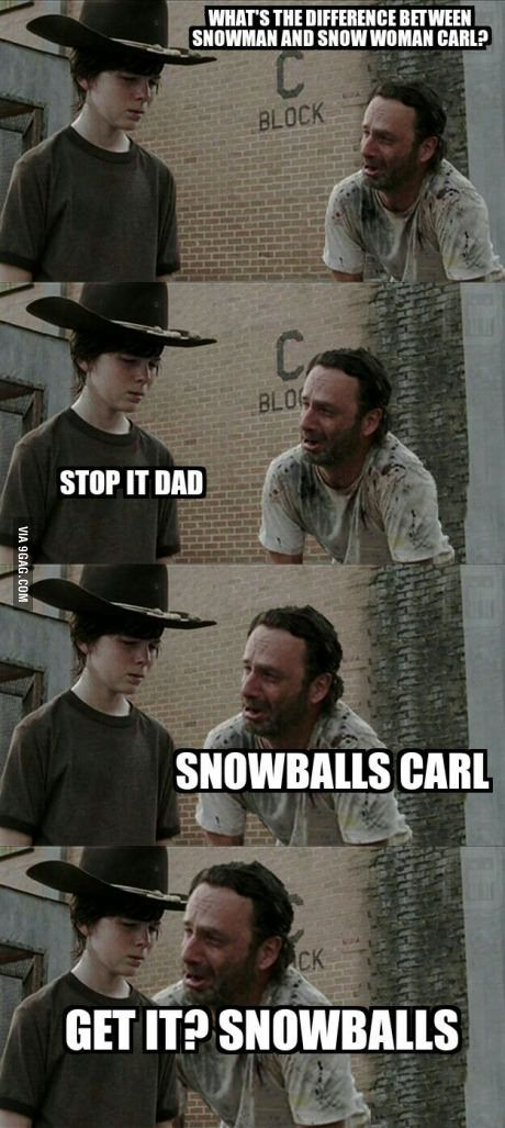 Dad jokes with Rick Grimes @nuffy375  @maggiemcadams