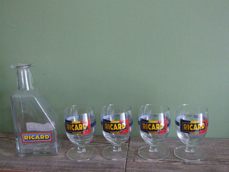 Ricard // Ricard Glass and pitcher set // Ricard glasses and water jug - pinned by pin4etsy.com