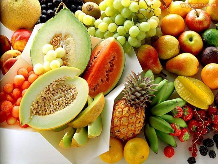 Buffet de frutas.