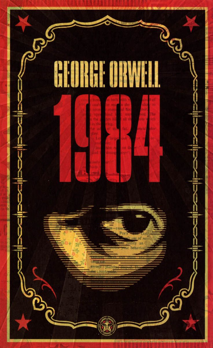 1984 Book Cover With Eye George Orwell