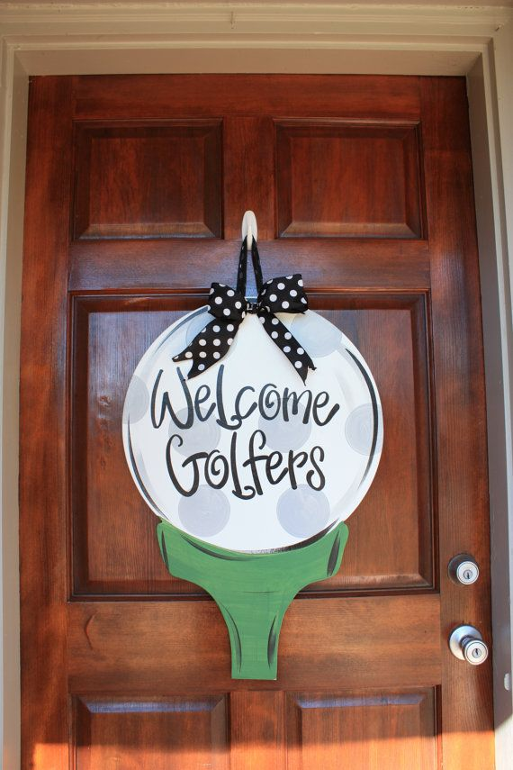 Golf Ball Door Hanger Golfer Wreath Golfer by SouthernStyleGifts
