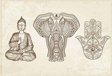 Elephant And Sitting Buddha