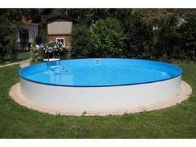 Stahlwand Pool-Set Bologna Einbau-und Aufstellbecken Ø 200 cm x 120 cm