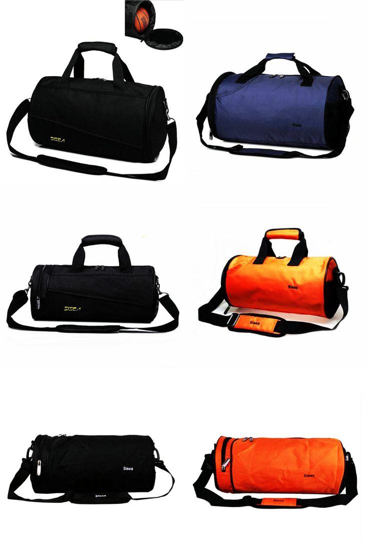 [Visit to Buy] Cool men gym bag new style sport crossbody bag waterproof nylon travel single shoulder bag basketball football training handbags #Advertisement