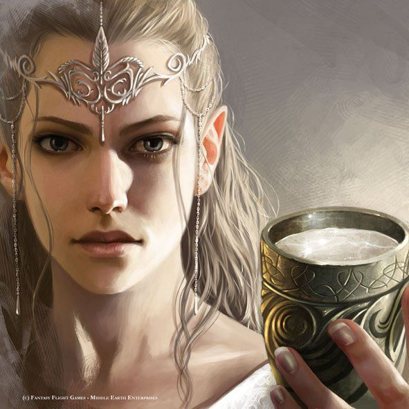Wow. THIS is what a female elf is supposed to look like. --Middle Earth Enchantress by Magali Villeneuve