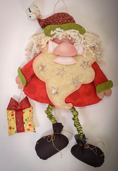 Santa con el regalo