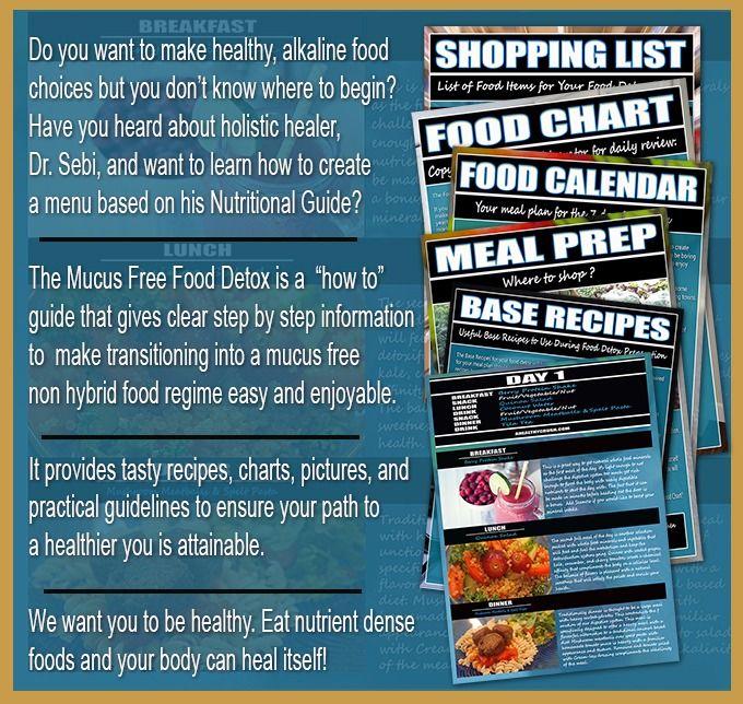 Mucus free food detox paperback   Dr sebi cookbook   Detox