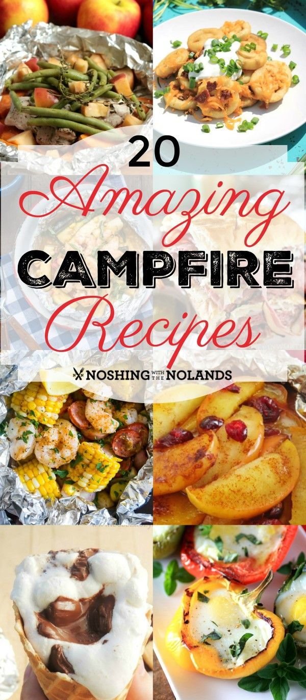 20 Amazing Campfire Recipes from Noshing With The Nolands will get you excited about the great outdoors even if it's just your own backyard!