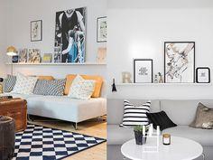 Saiba em qual altura pendurar e que tipo de decoração usar em uma prateleira atrás do sofá e deixe sua sala de estar muito mais estilosa e sofisticada.