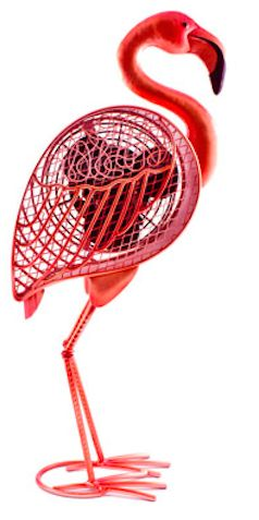 Great way to keep cool! - love this flamingo fan!!