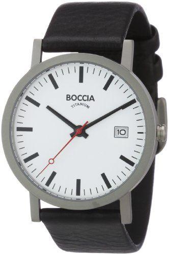 Boccia Herren-Armbanduhr Leder