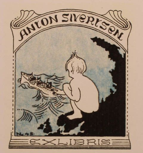 Exlibris by Normand Laheld for Anton Sivertsen