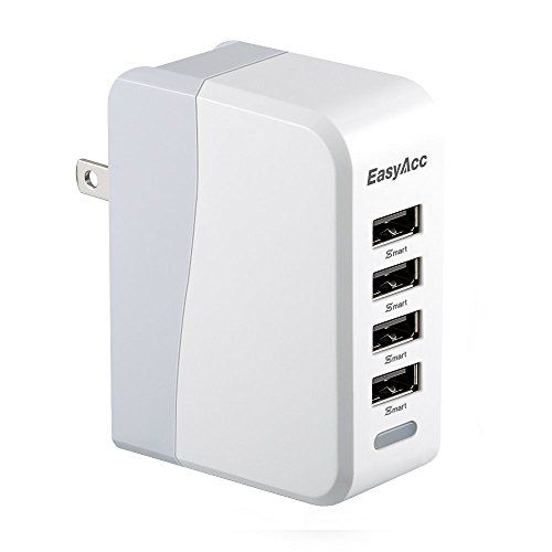 EasyAcc 20W 4A 4Port USB Wall Charger with Folding Plug and Smart Technology Travel Charger For iPhone 6 Plus iPad Samsung Galaxy S6 Edge Tab *** Be sure to check out this awesome product.
