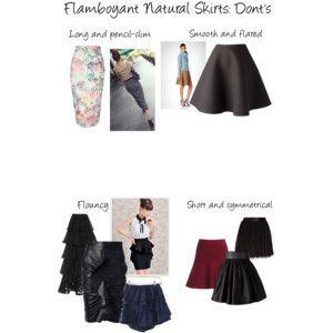 Flamboyant Natural Skirts: Don'ts