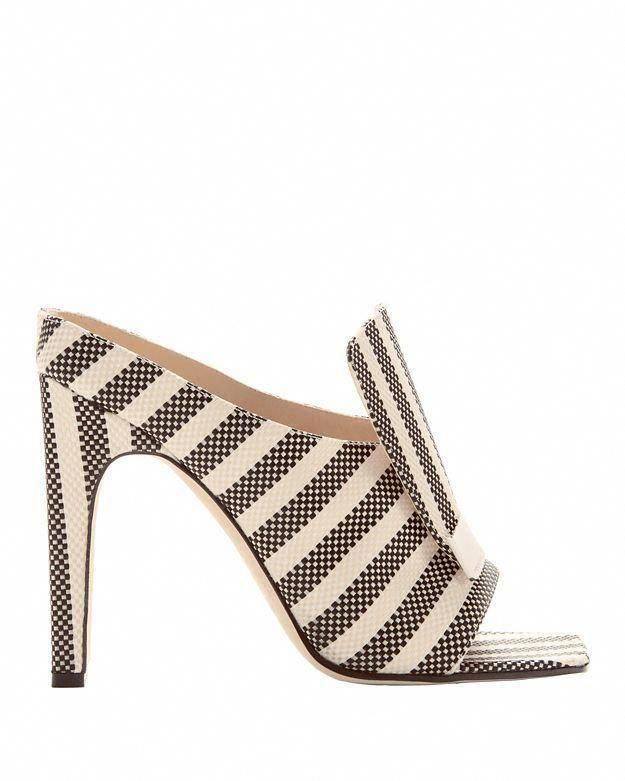 0e3b2261aee SERGIO ROSSI Sr1 Striped Portofino Jacquard Sabot Sandals.  sergiorossi   shoes  sandals