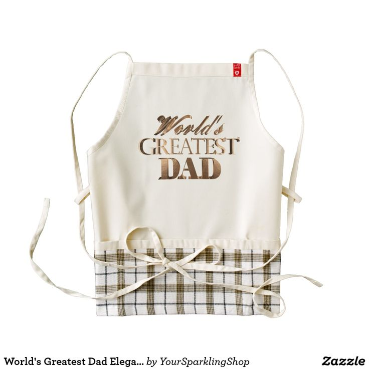 World's Greatest Dad Elegant Shiny Gold Typography