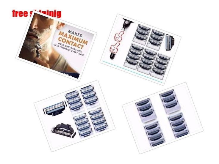 Manual Men's Razor Blades Replacement Inner Shaving Refill Blades for Gillette  #PrettyQueen