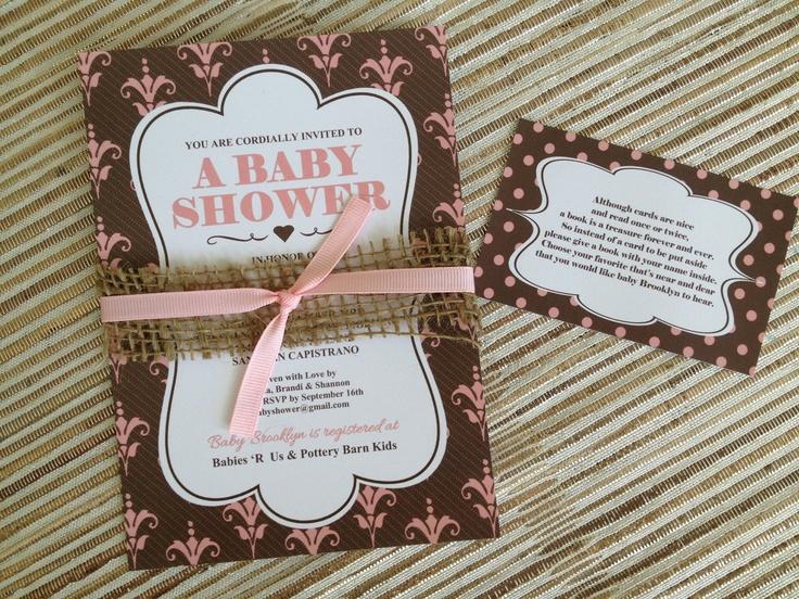 Shabby Chic Baby Shower Invitation   Girl Baby Shower Invite.