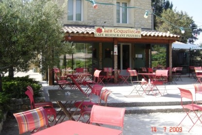 Les Coquelicots, in Suzette--my favorite restaurant when we stay in Le Barroux