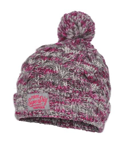 Womens - Colour Splash Beanie in Marl Hot Pink Twist | Superdry